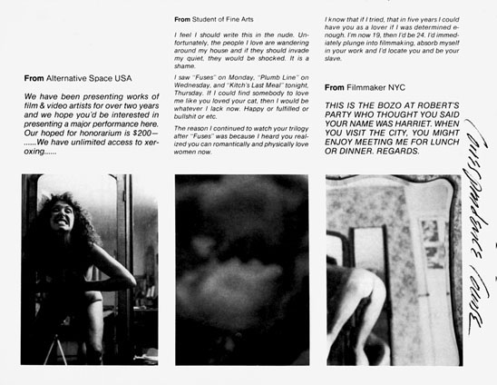 Correspondence Course: An Epistolary History Of Carolee Schneemann And Her  Circle   BOMB Magazine