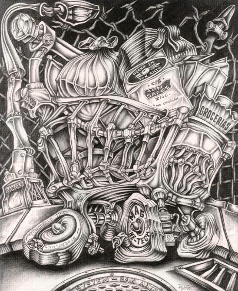 Alex rubio bomb magazine for Aztec mural tattoos